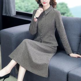 NYL-4631083秋冬新款气质显瘦时尚韩版小香风格子套装
