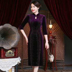 洋气高贵,镶钻婚宴礼服旗袍YZL-957#