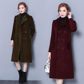 NYL-358618新款秋冬韩版气质大码加厚羊毛呢子大衣