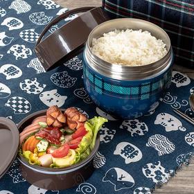 日式USAMI不锈钢保温饭盒  双层设计,保温小能手颜值还好看