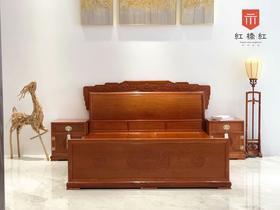 红桥红  家具严选  缅甸花梨(大果紫檀)  【龙床】