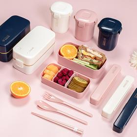 日本USAMI饭盒套装 双层分隔,营养均衡搭配