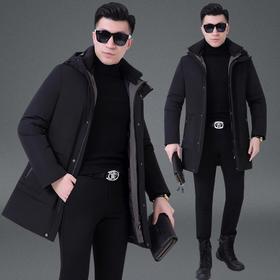 XMH-HY658冬季新款保暖棉衣袄子爸爸装连帽棉服