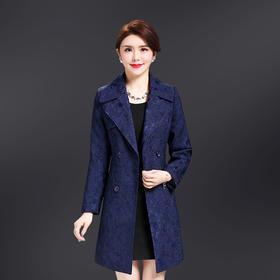YM-8162新款韩版中长款大码女装风衣