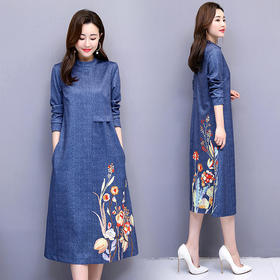 修身显瘦,时尚圆领连衣裙CQ-ASG5807