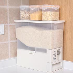日本Fasola带计量米箱杂粮存储收纳箱防潮防虫大容量米桶储米器
