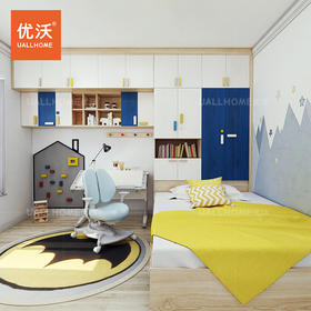 白蜡木实木儿童书桌书柜衣柜组合榻榻米定制原创设计