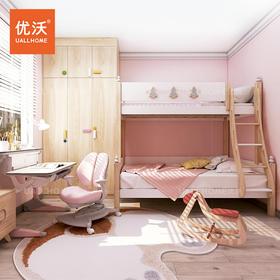 白蜡木实木儿童上下床高低床子母床书桌书柜衣柜组合2020年新款