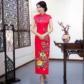 TJ-AQI-3740新款复古改良中国风旗袍裙
