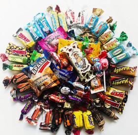 【俄罗斯进口糖500克】俄罗斯进口混装糖 黑巧克力混合糖+180积分