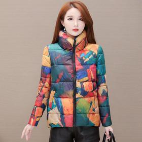 时尚修身,短款印花加厚羽绒棉服YW-KED96A58
