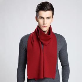 LM-99商务男士羊毛围巾刺绣加厚保暖围脖