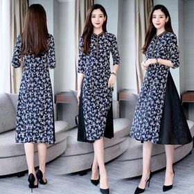 CQ-ASGA15811新款时尚优雅印花连衣裙TZF