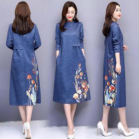 CQ-5807ASG时尚圆领连衣裙