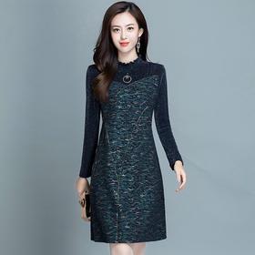 修身减龄,加厚时尚大码连衣裙YW-KED96A56