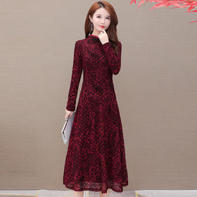 修身显瘦,加绒加厚印花连衣裙YW-TYH8660-3