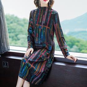 NYL-133511新款韩版时尚宽松高端洋气印花连衣裙