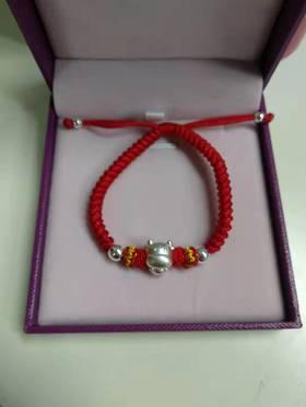 千年珠宝 12生肖银版红绳手链