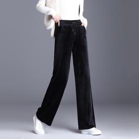 阿曼·金丝绒加绒休闲裤│时装精都爱的显瘦单品,软比丝绸,穿出刘雯大长腿