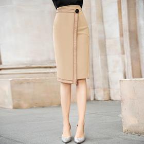 FMY-27125新款气质优雅大方高腰中长款职业包臀裙