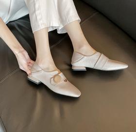 气质时尚,韩版方头乐福鞋OLD-L1805