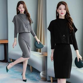 NYL-3585178新款时尚气质洋气小香风收腰中长款女裙