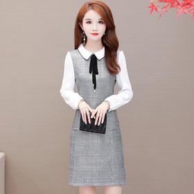 QYM-TYH-93962新款韩版潮流气质时尚长袖打底裙