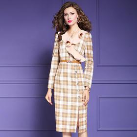 FMY-27374轻熟气质时尚小香风修身中长裙