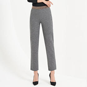 XKNH-FY6791新款毛呢高腰休闲长裤