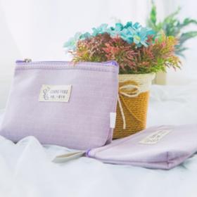 紫色化妆布包