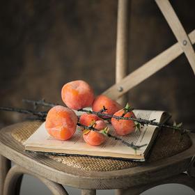 欧式仿真柿子把束果枝发财果插花整体花艺家居饰品客厅酒店摆件