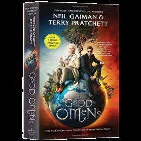 华研原版 好兆头 英文原版 Good Omens 同名美剧小说版 英文版进口英语书 尼尔盖曼 Neil Gaiman Terry Patchett 善与恶的预言
