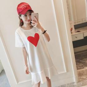 【寒冰紫雨】M-2XL  荷叶边鱼尾连衣裙夏装女装裙子    AAA7783