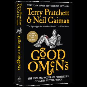 现货正版 好兆头 书 英文原版 Good Omens 尼尔盖曼 Neil Gaiman 卷福 Michael Sheen 同名美剧原著 世界末日奇幻小说进口英语书籍