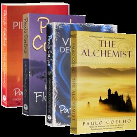 保罗柯艾略小说4本套装 英文原版小说 Paulo Coelho 牧羊少年奇幻之旅 朝圣 维罗妮卡决定去死 像河流一 英文版进口原版英语书籍