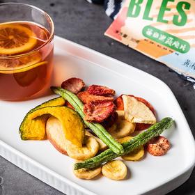 每日果蔬脆片7包 3种水果3种蔬菜,咸香香脆
