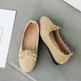 【寒冰紫雨】      中口休闲鞋子女士套脚平底鞋  懒人鞋一脚蹬鞋子    AAA7827