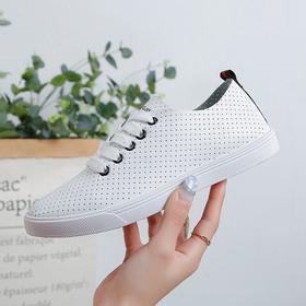 【寒冰紫雨】春秋款单鞋女士深口运动鞋子  小白鞋舒适透气板鞋  AAA7836