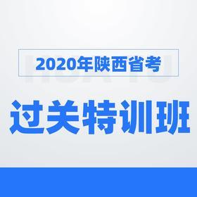 【七一特惠】2020陕西省考过关特训班