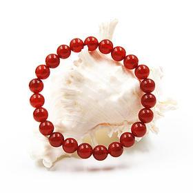 天然红玛瑙圆珠手串