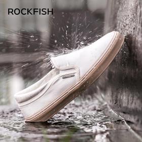 【Rockfish不怕湿系列 2020春季新款】Rockfish防泼水一脚蹬乐福鞋不怕湿的帆布鞋懒人