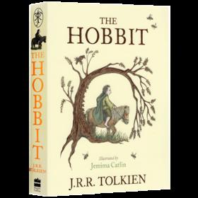华研原版 霍比特人 彩色插图版 英文原版小说 The Colour Illustrated Hobbit 魔戒指环王前传 托尔金史诗奇幻文学小说 进口英语书