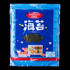 百钻寿司海苔25克 日式寿司包饭紫菜干海苔片 传统工艺制作 酥香脆爽