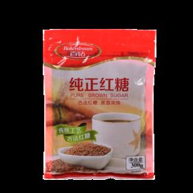百钻纯正红糖300g 传统工艺 甘蔗糖粉 蛋糕原料冲饮姜茶煲汤调味品