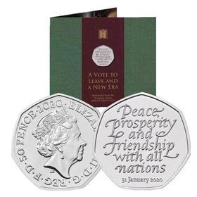 """【现货】""""脱欧""""纪念币 英国皇家造币厂发行"""