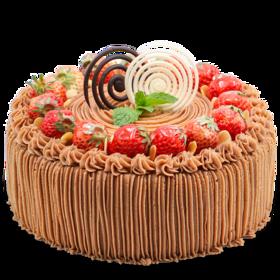 浪漫年轮-法式栗茸生日蛋糕