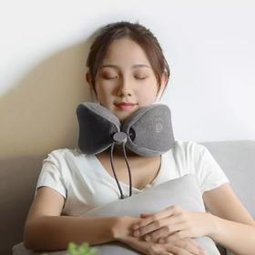 快递恢复正常发货!【乐范按摩颈枕】颈部按摩枕电动多功能旅行枕 便携收纳