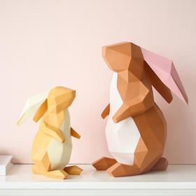 北欧风可爱树脂兔子摆件创意家居饰品客厅酒柜情人节礼物装饰品