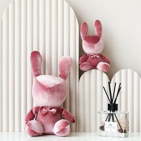 北欧ins网红领带结可爱小兔子玩偶公仔布娃娃少女心装饰礼物摆件