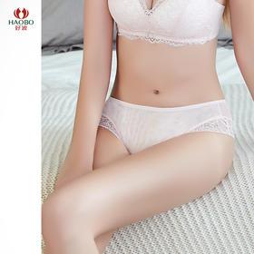 好波20春夏新品性感蕾丝女士中低腰三角裤DD2005文胸配套内裤